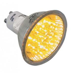 À V 1w Dicroique Lampe Spot 230 Leds Haute Luminosité 50mm Jaune Forme dtshrQC